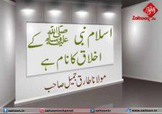Islaam Nabi SWA Ke Akhlaaq Ka Naam Hai|Molana Tariq Jameel Sahab short