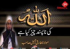 Allah Ki Napasand Cheez Kya Hai   Molana Tariq Jameel Sahab