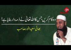 Wo Kam Karein Jis Ka Allah Tala Ne Zemehdar Banaya Hai | Bhai Saeed Anwer Sahab