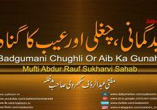 Badgumani Chughli Or Aib Ka Gunah |Badgumani Chughli Or Aib Ka Gunah
