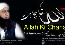 Allah Ki Chahat Bayan By Bhai Saeed Anwer Sahab