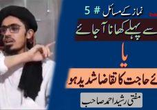 Namaz se Pehle Khana Ajaye YA Qazaa-e-Haajat ka Taqaza Shadeed Ho