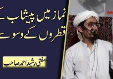 Mufti Rasheed Ahmed | Namaz mein Peshab ke Qatron ke Waswasay | Disease of Urine Drops in Prayer