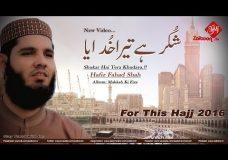 Shukar Hai Tera Khudaya | Hafiz Fahad Shah | Makkah Ki Fiza | New Video (Full HD)
