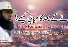 Marne Ke Baad Kamyabi Kaise Bayan By Saeed Anwer Sahab