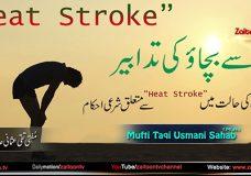Mufti Taqi Usmani | Heat Stroke Se Bachao Ki Tadabeer